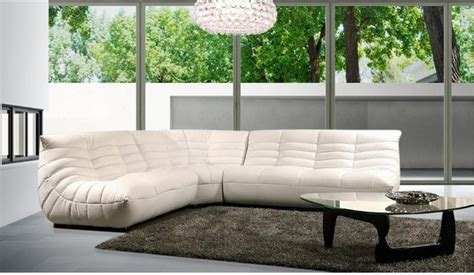 modern comfortable leather sectional sofa modern living room los angeles  eurolux