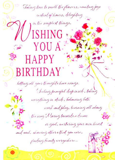 a thoughtful happy birthday card best birthday wishes