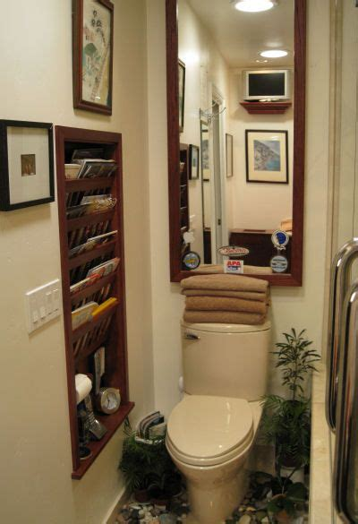 Recessed Bathroom Magazine Rack  Woodworking Projects & Plans