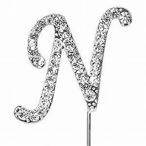 letter n beautiful diamante pick cake cupcake topper With letter n cake topper