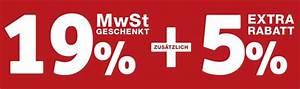 Extra Rabatt : xxxl mehrwertsteuer geschenkt aktion 19 rabatt ~ Buech-reservation.com Haus und Dekorationen