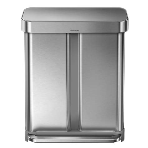 simplehuman in cabinet trash can simplehuman 58 liter nano silver clear coat brushed