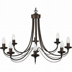 Lustre Metal Noir : un lustre rustique pour plus d 39 authenticit et de chaleur dans la maison ~ Teatrodelosmanantiales.com Idées de Décoration
