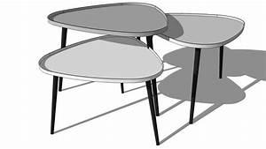 Table Basse Gigogne Maison Du Monde : tables basses gigogne galet maisons du monde r f 138908 prix 299 90 3d sk ~ Teatrodelosmanantiales.com Idées de Décoration