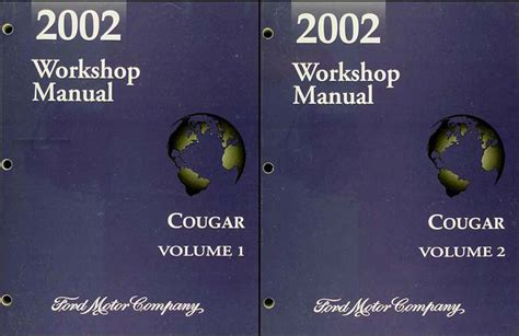 auto repair manual online 2002 mercury cougar seat position control 2002 mercury cougar repair shop manual original 2 volume set