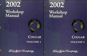 2001 Mercury Cougar Service Shop Repair Set Oem 2 Volume Service Set And The Wiring Diagrams