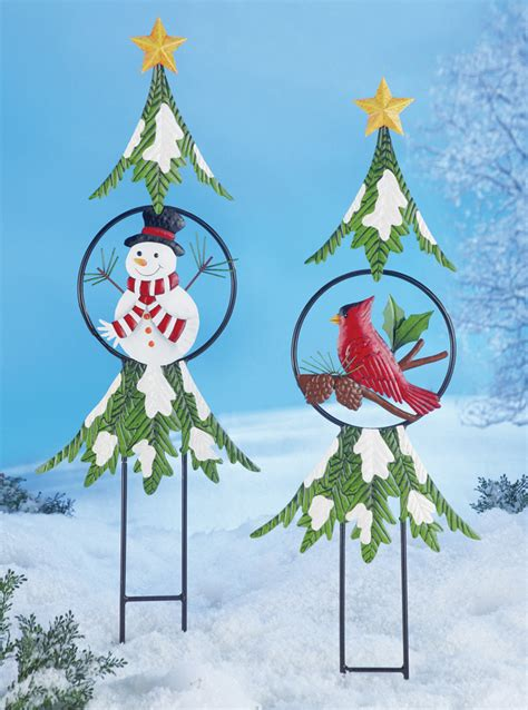 collections etc christmas holiday tree garden stakes ebay