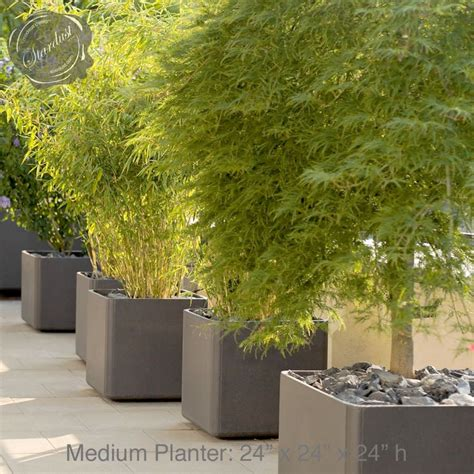 Modern Outdoor Planters by Mid Century Modern Pots And Planters Square Planter 24 Quot H