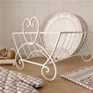 shabby chic dish drainer shabby chic heart plates drainer kitchen dish rack holder vintage country style ebay