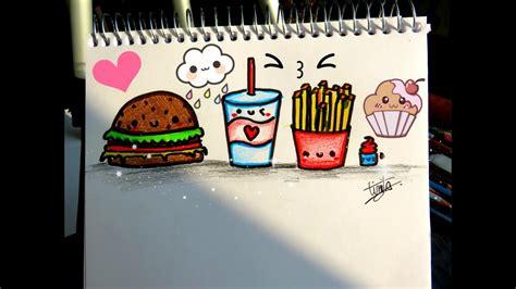 como dibujar comida kawaii dibujostinita tinitacreaciones