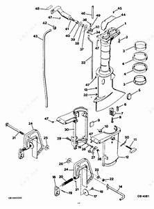 Mercury Force 4 H P  1985  Motor Leg