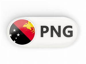 Round button with ISO code. Illustration of flag of Papua ...