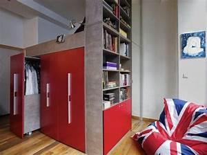 Lit Mezzanine Dressing : dressing ~ Dode.kayakingforconservation.com Idées de Décoration