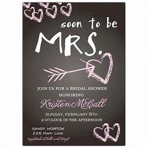 Chalkboard love bridal shower invitations paperstyle for Wedding shower announcements