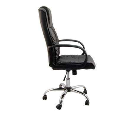 split leather high back executive office chair