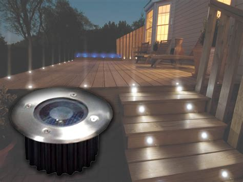 solar led deck lights 2 6 10 bright white led solar powered garden decking deck