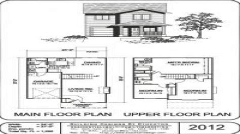 Small Two Story House Plans Simple Two-story Small Houses