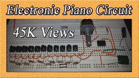 electronic piano circuit diy toy piano  timer