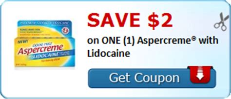 Save $2.00 on ONE (1) Aspercreme® with Lidocaine