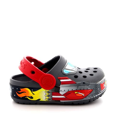 light up crocs boys crocs crocslights galactic light up rocket ship