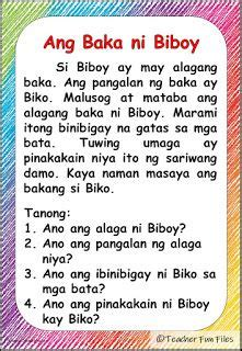teacher fun files filipino reading materials