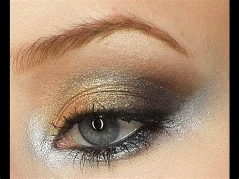 silver  gold decoration holiday makeup tutorial youtube