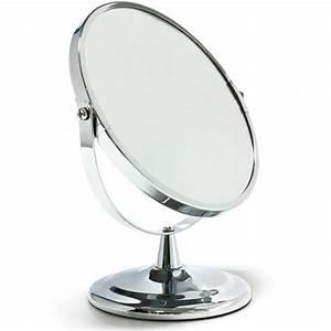 miroir de beaute grossissant sur pied avec face grossissante With miroir grossissant sur pied