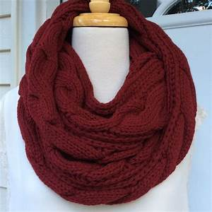 71% off Accessories - CLOSEOUT New Red Cable Pattern Knit ...