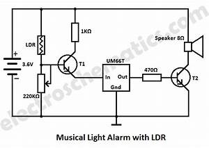 ldr light dependent resistor photoresistor circuit With simple white led night light ledandlightcircuit circuit diagram