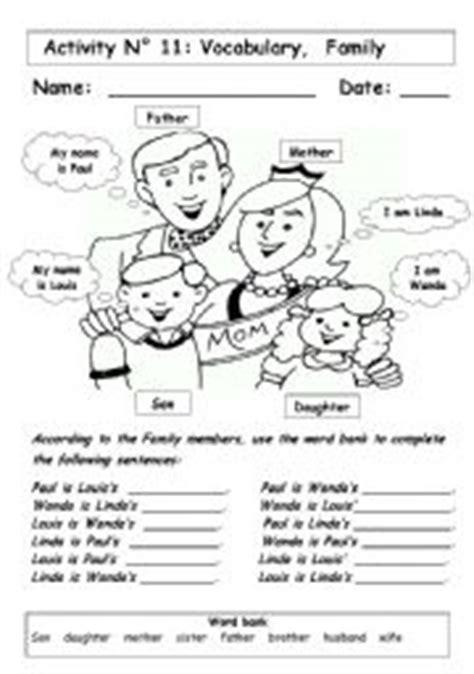 family esl worksheet  andresdomingo