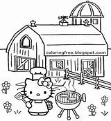 Coloring Hello Kitty Pages Sydney Opera Teenage Printable Countryside Cooking Activities Drawing Outdoor Sheets Party Bbq Balloon Getcolorings September Cute sketch template