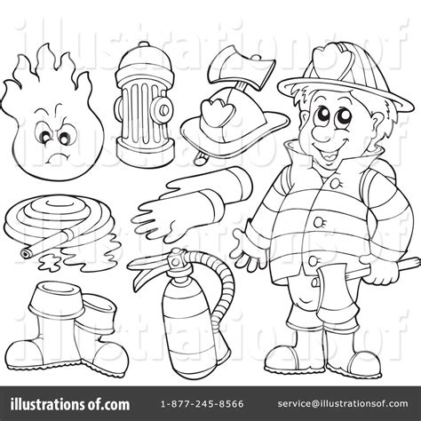 fireman boots clipart black and white fireman clipart 231680 illustration by visekart