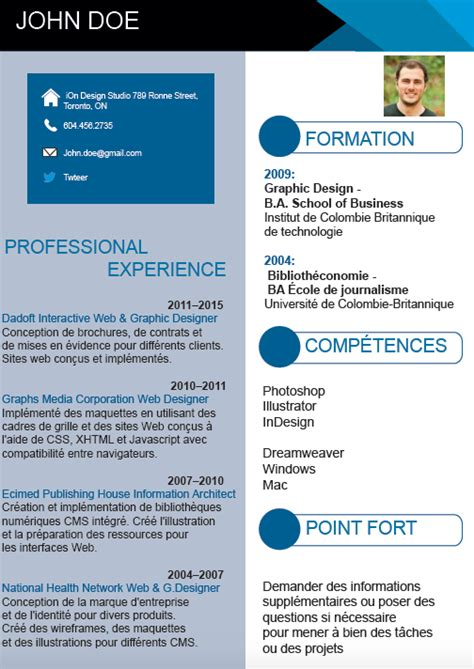 Modele Cv Informatique Word by Exemple De Cv Moderne Gratuit Adaptable Et Au Format Word