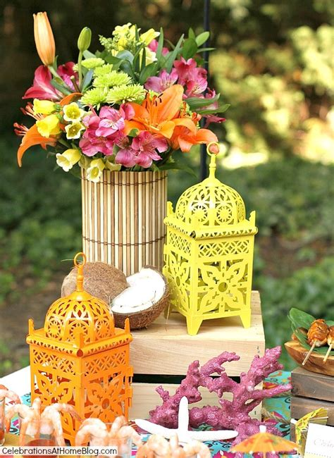 Entertaining  Tropical Themed Party Ideas + Free