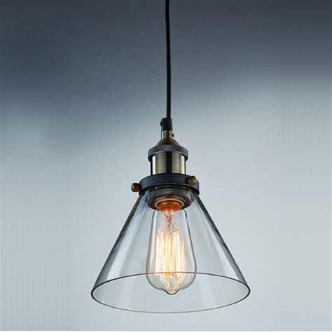 vintage pendant lights for kitchens aliexpress com buy modern industrial vintage clear glass