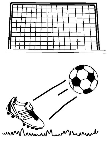 Goal Kleurplaat by Soccer Goal Coloring Pages