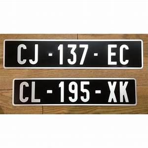 Plaque D Immatriculation Norauto : plaque d 39 immatriculation auto alu noire retro la ~ Dailycaller-alerts.com Idées de Décoration