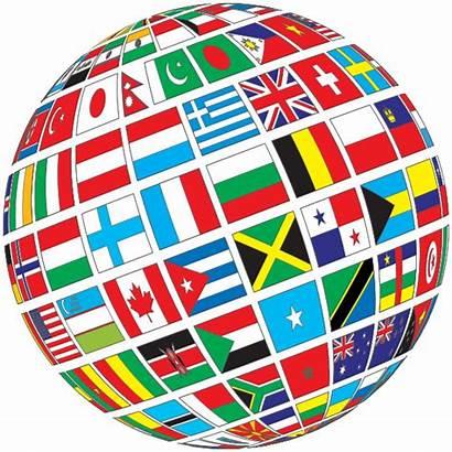 Flags Globe Tilted Flag Nations United International