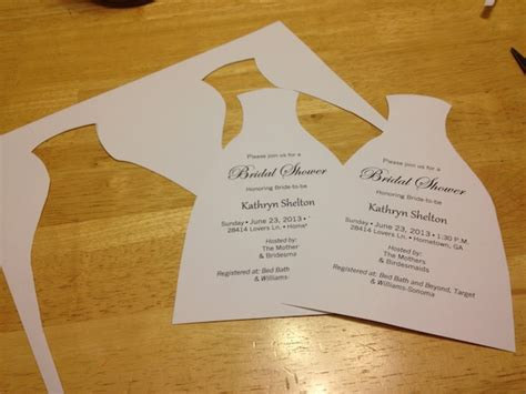 diy bridal shower invitations  tie  knots