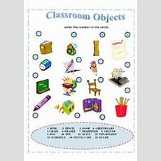 Vocabulary  Classroom Objects  Esl Worksheet By Sruggy