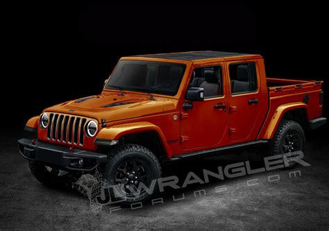 jeep wrangler pickup truck rendered based  spyshots  door model included autoevolution