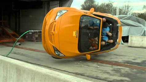 adac rollover crash test  compact convertibles youtube
