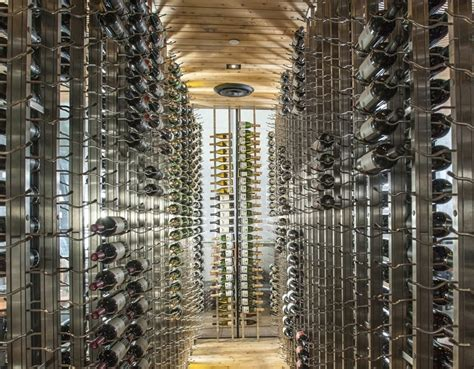 glass enclosed wine cellars glass doors walls iwa