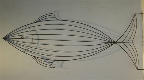 Oversized Metal Wire Fish Sculpture Style Of Frederick