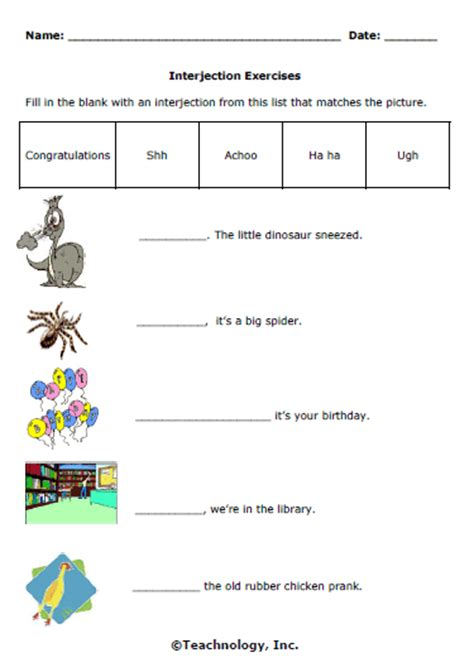 All Worksheets » Interjection Worksheets  Printable Worksheets Guide For Children And Parents