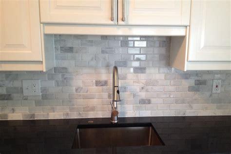 basement marble subway tile tile city kitchen backsplash