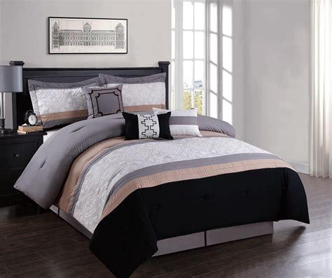 7 piece geometric embroidered comforter set ebay