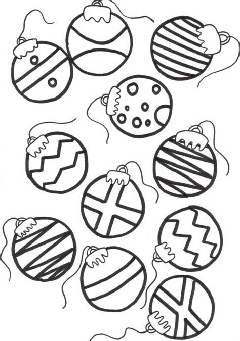 christmas ornament tree to color coloring page for