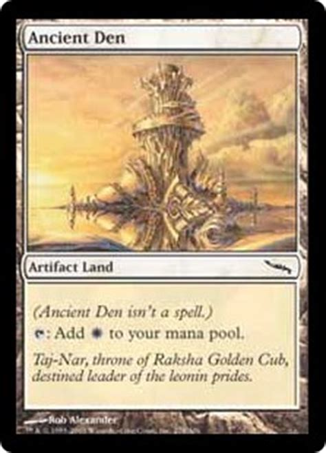 mtg deck definition ancient den magic the gathering trading card