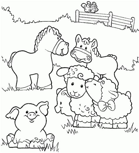 farm coloring pages for preschool coloring home 452 | ncEyKqr4i